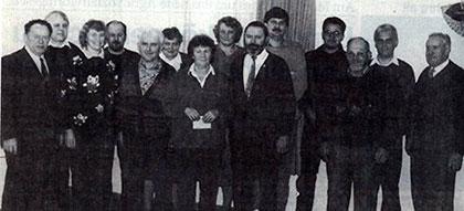 Siegerfoto der  Veriensmeister, Hubert Sportler des Jahres 1994