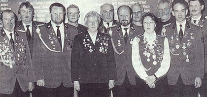 Hubert Göwert als  neür Präsident des Schützenkreises Cloppenburg