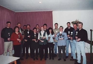 Sieger des Pokalschiessens  zum Anlass des 15-jährigen Bestehens