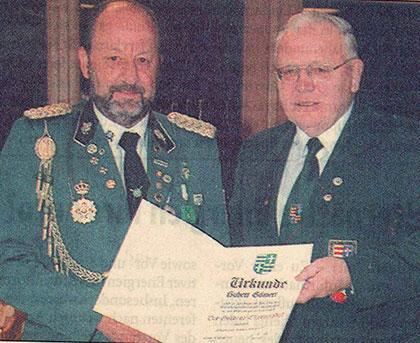 Ehrenurkunde des OSB