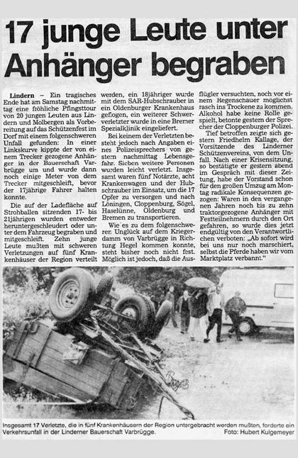 Unfallbericht 1993